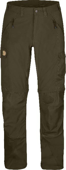 FjallRaven Abisko Zip-Off Trousers Dark Olive-30