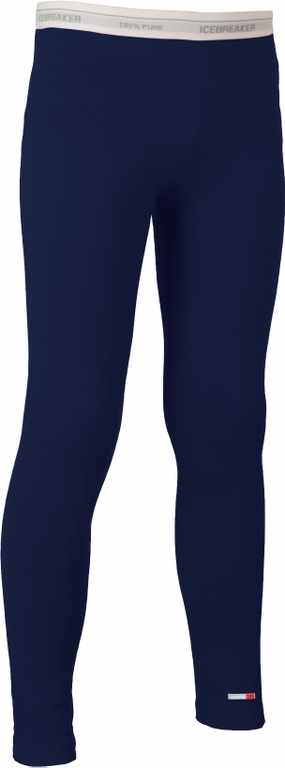 Icebreaker Kids Compass Leggings Admiral/White-30