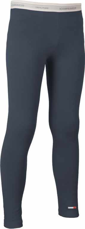 Icebreaker Kids Compass Leggings Monsoon/White-30