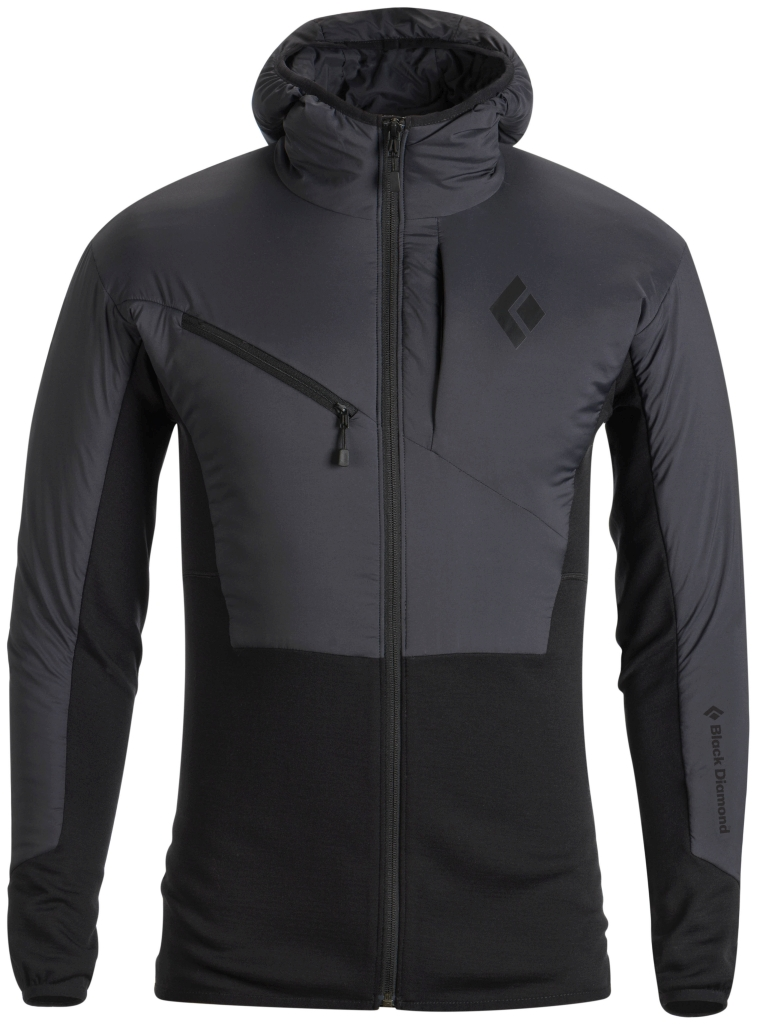 Black Diamond M's Deployment Hybrid Hoody Smoke-30