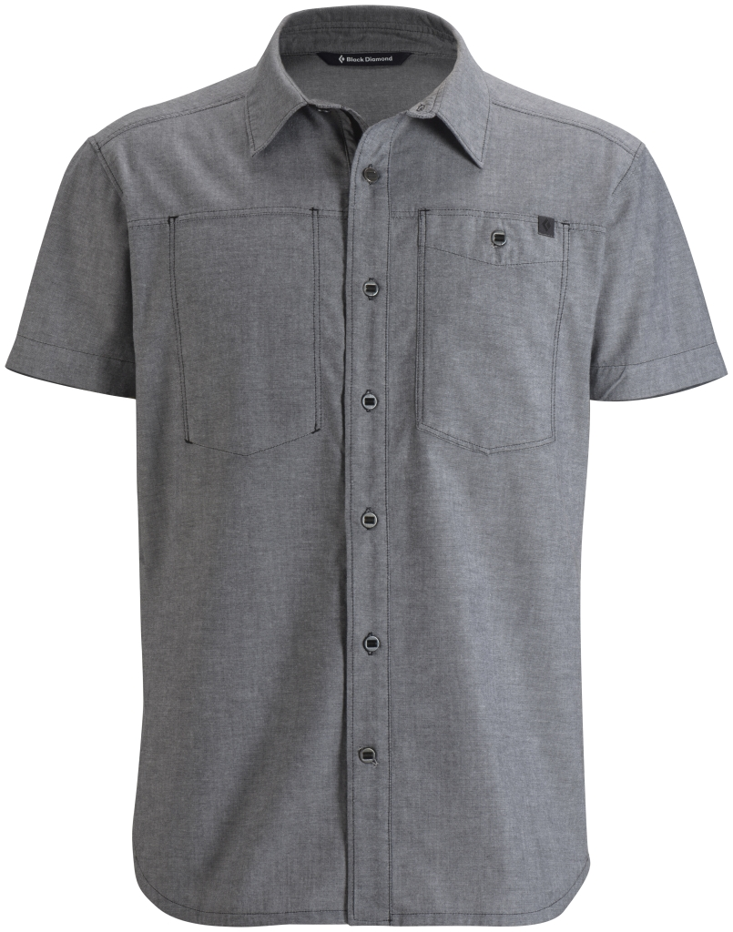 Black Diamond M's S/S Chambray Modernist Shirt Slate-30