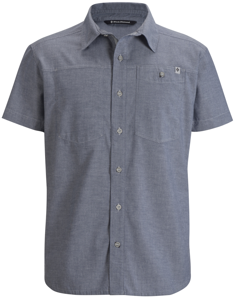 Black Diamond M's S/S Chambray Modernist Shirt Indigo-30