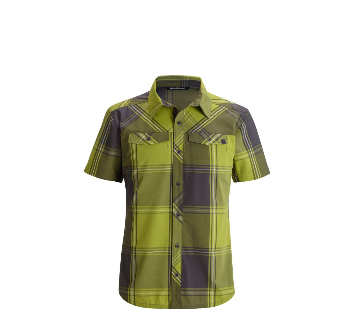 Black Diamond M's S/S Technician Shirt Grass Plaid-30
