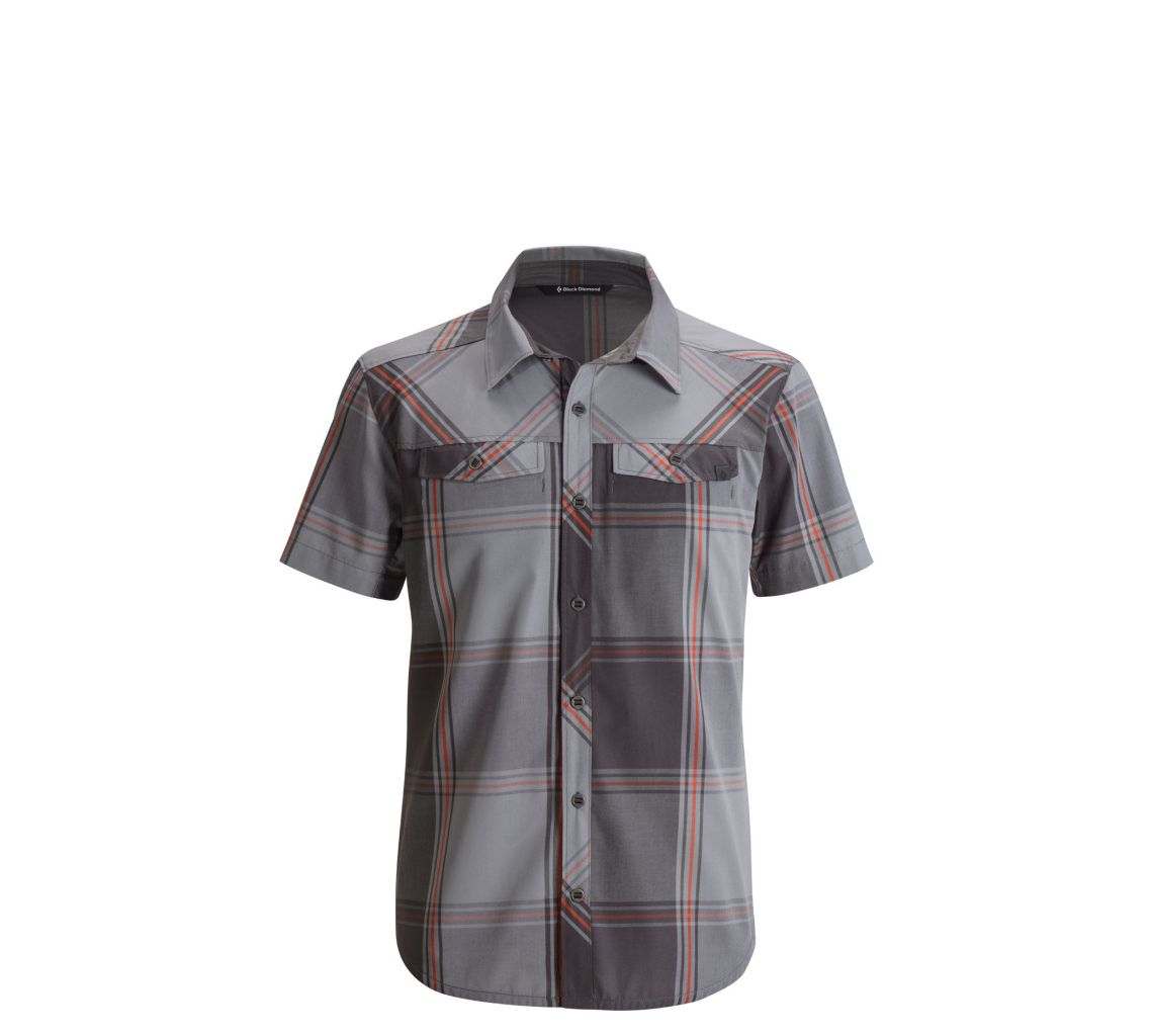 Black Diamond M's S/S Technician Shirt Slate Plaid-30