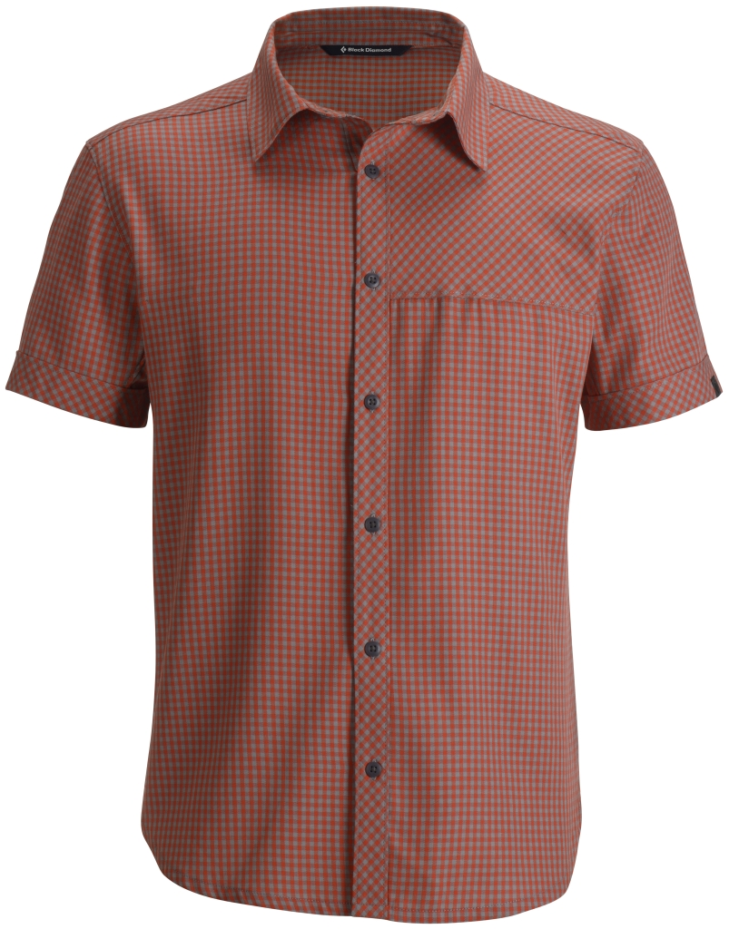 Black Diamond M's S/S Spotter Shirt Octane Nickel Mini Gingham-30