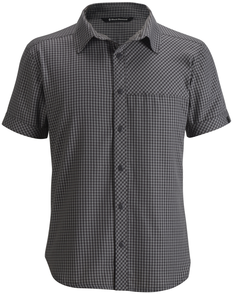 Black Diamond M's S/S Spotter Shirt Slate Nickel Mini Gingham-30