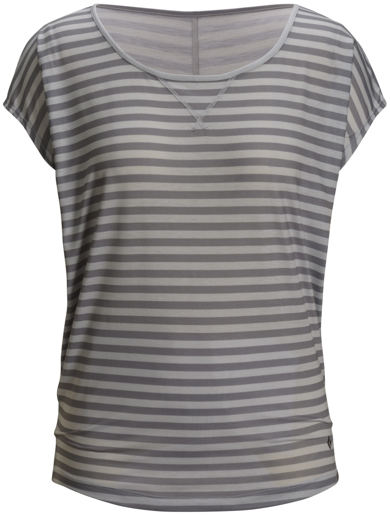 Black Diamond Arete Tee Women's Aluminum-Nickel Stripe-30
