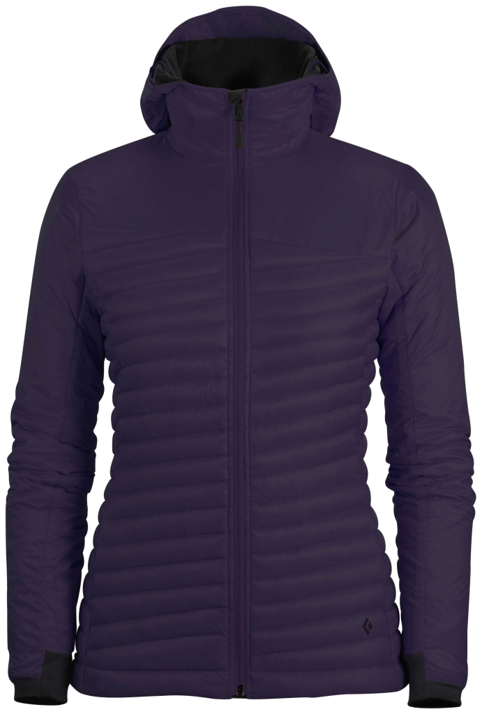 Black Diamond W's Hot Forge Hybrid Hoody Nightshade-30