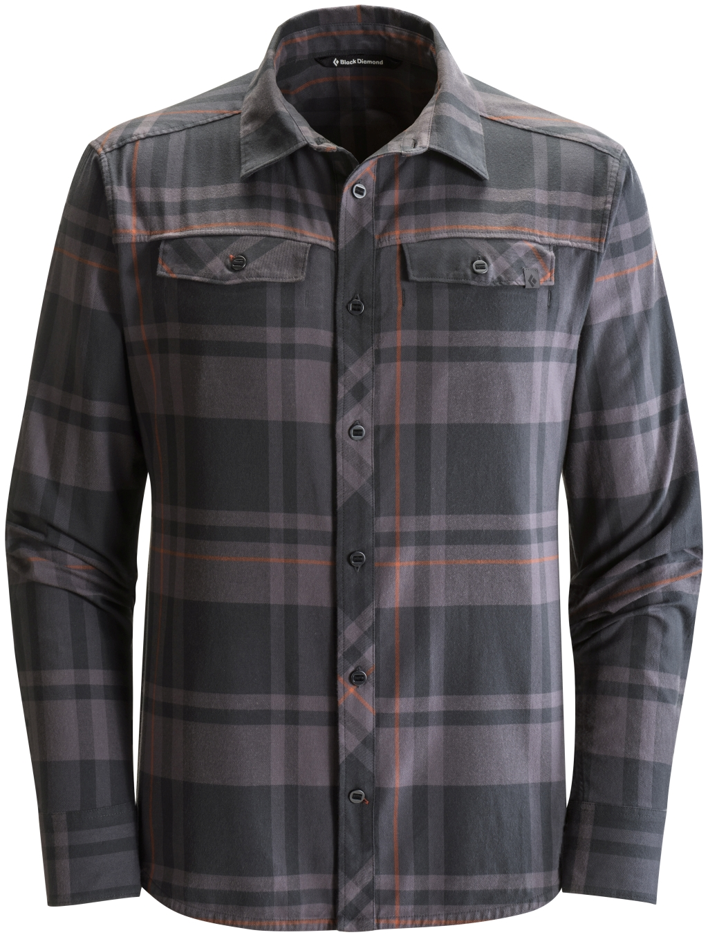 Black Diamond Long-Sleeve Stretch Technician Shirt Black Slate Plaid-30