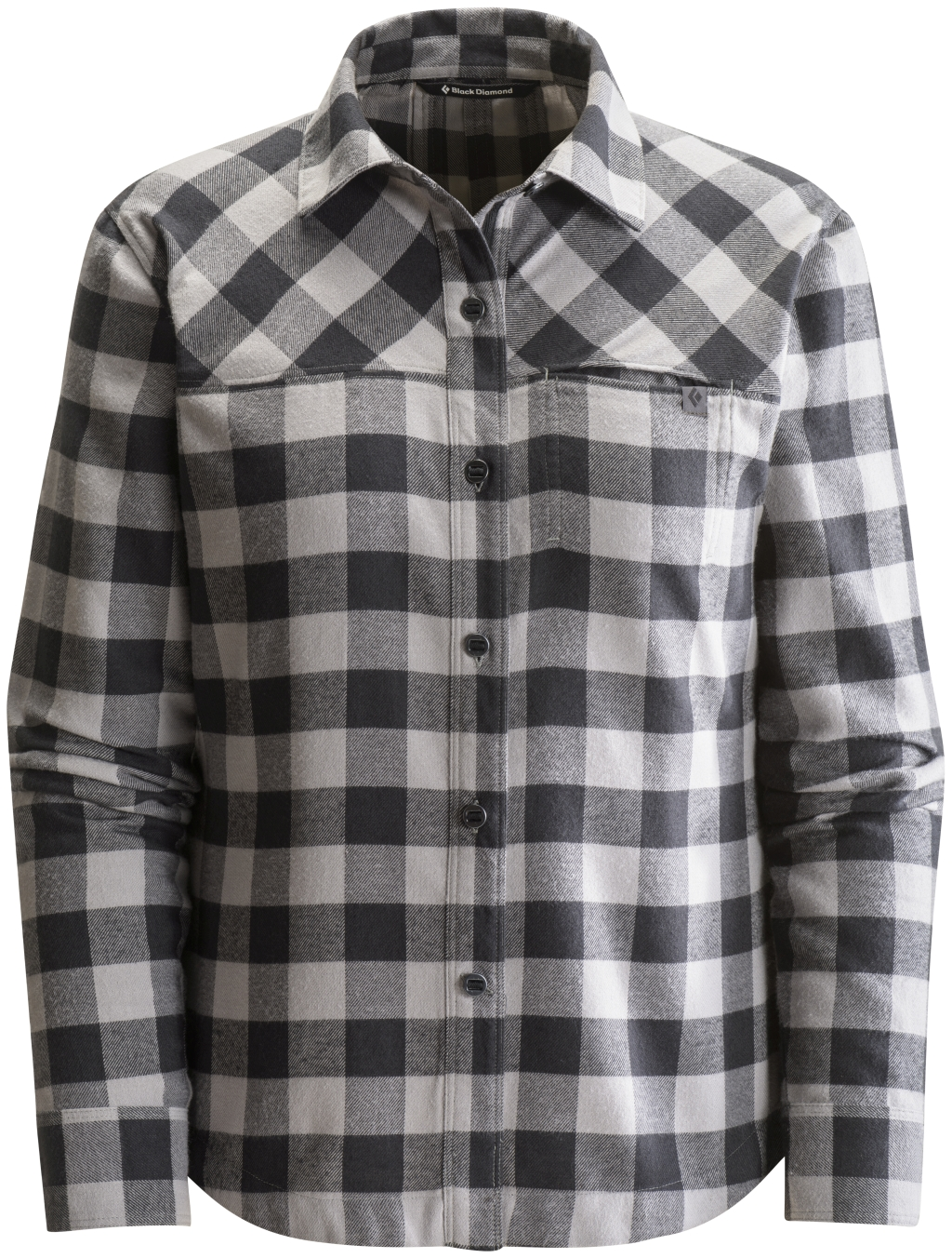 Black Diamond Long-Sleeve Spotter Shirt Women's Nickel Black Gingham-30