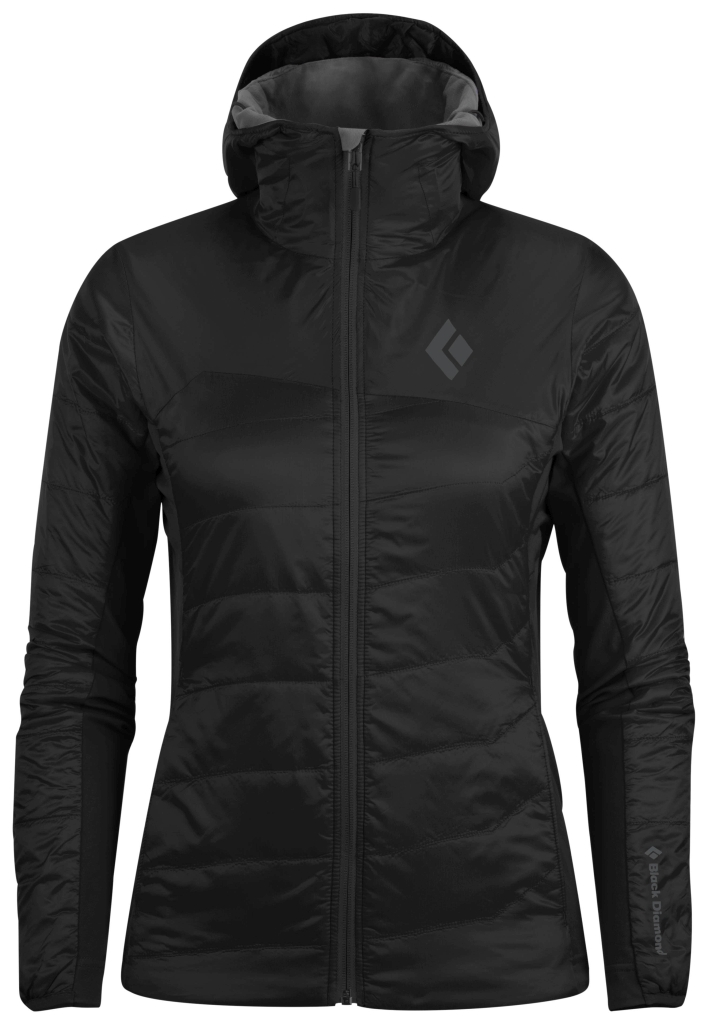 Black Diamond W´s Access LT Hybrid Hoody Black-30