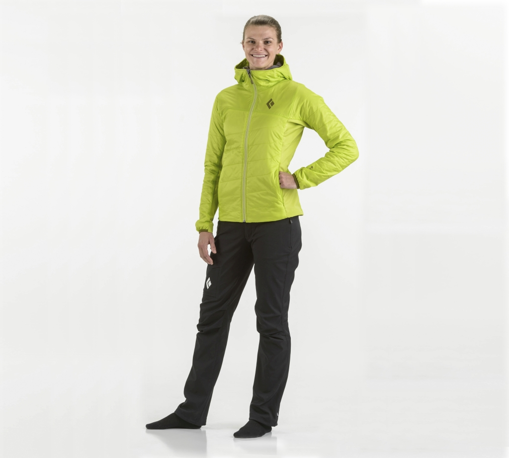 Black Diamond W's Access LT Hybrid Hoody Aloe-30