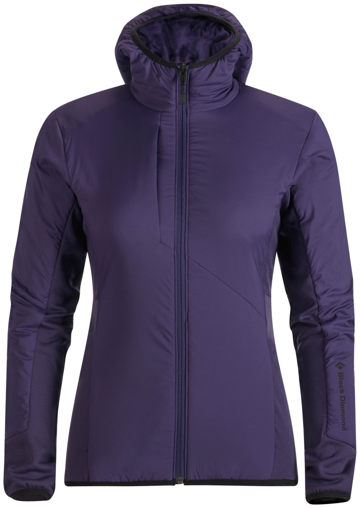 Black Diamond W's Deployment Hybrid Hoody Nightshade-30