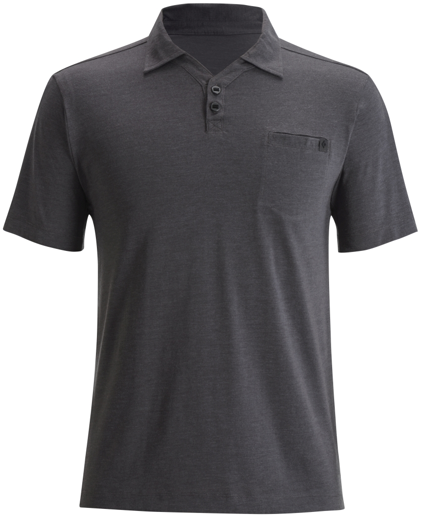 Black Diamond M's Cottonwood Polo Slate-30