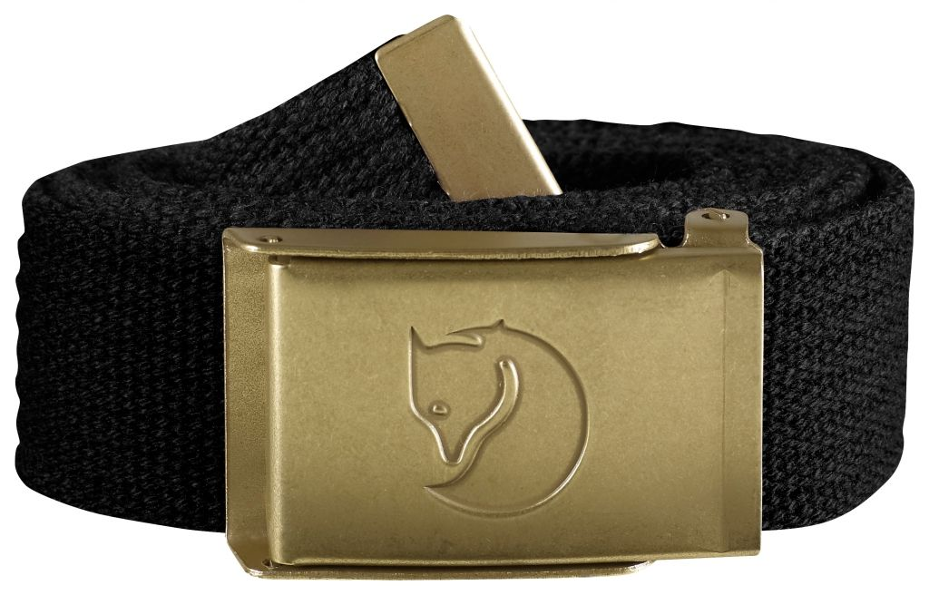 FjallRaven Canvas Brass Belt 3 cm. Black-30