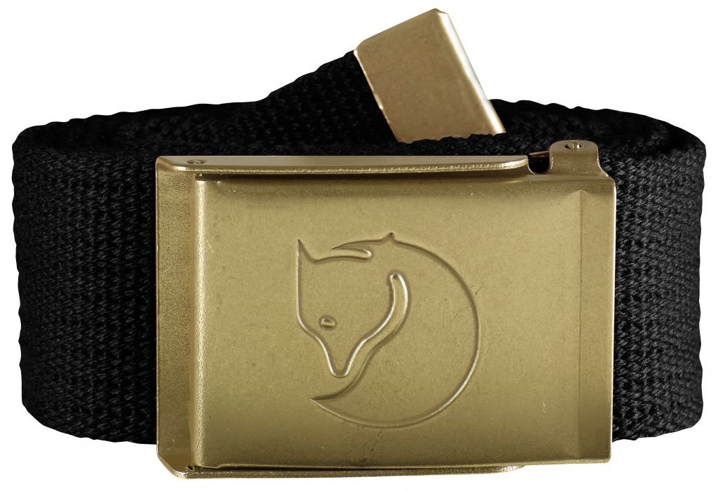 FjallRaven Canvas Brass Belt 4 cm. Black-30