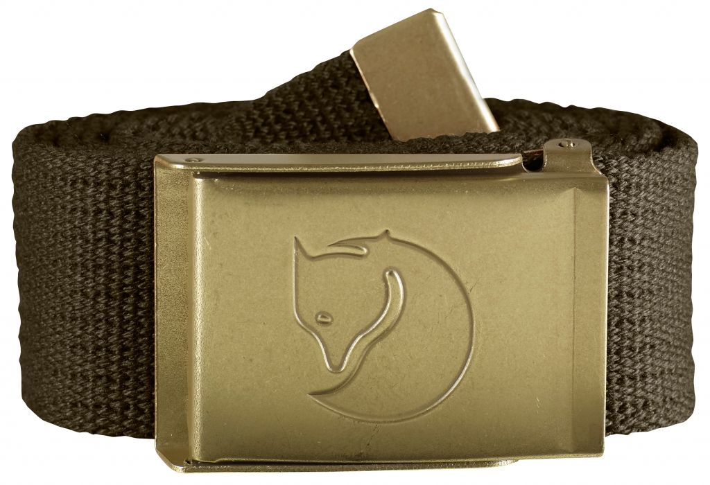 FjallRaven Canvas Brass Belt 4 cm. Dark Olive-30