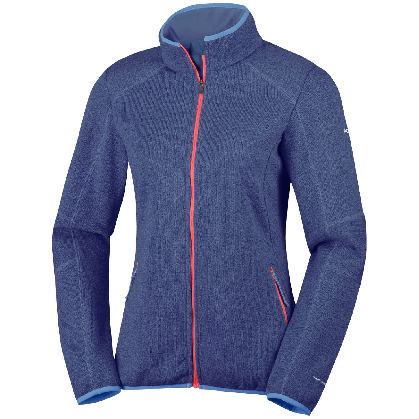 Columbia Women's Altitude Aspect Full Zip Knit Top Nocturnal Heather-30