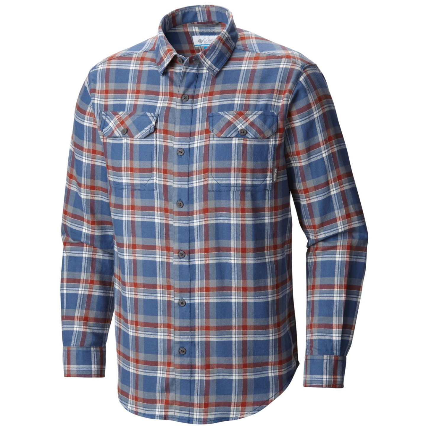 Columbia Flare Gun Flannel III Langarm-Shirt für Herren Night Tide Multi-30