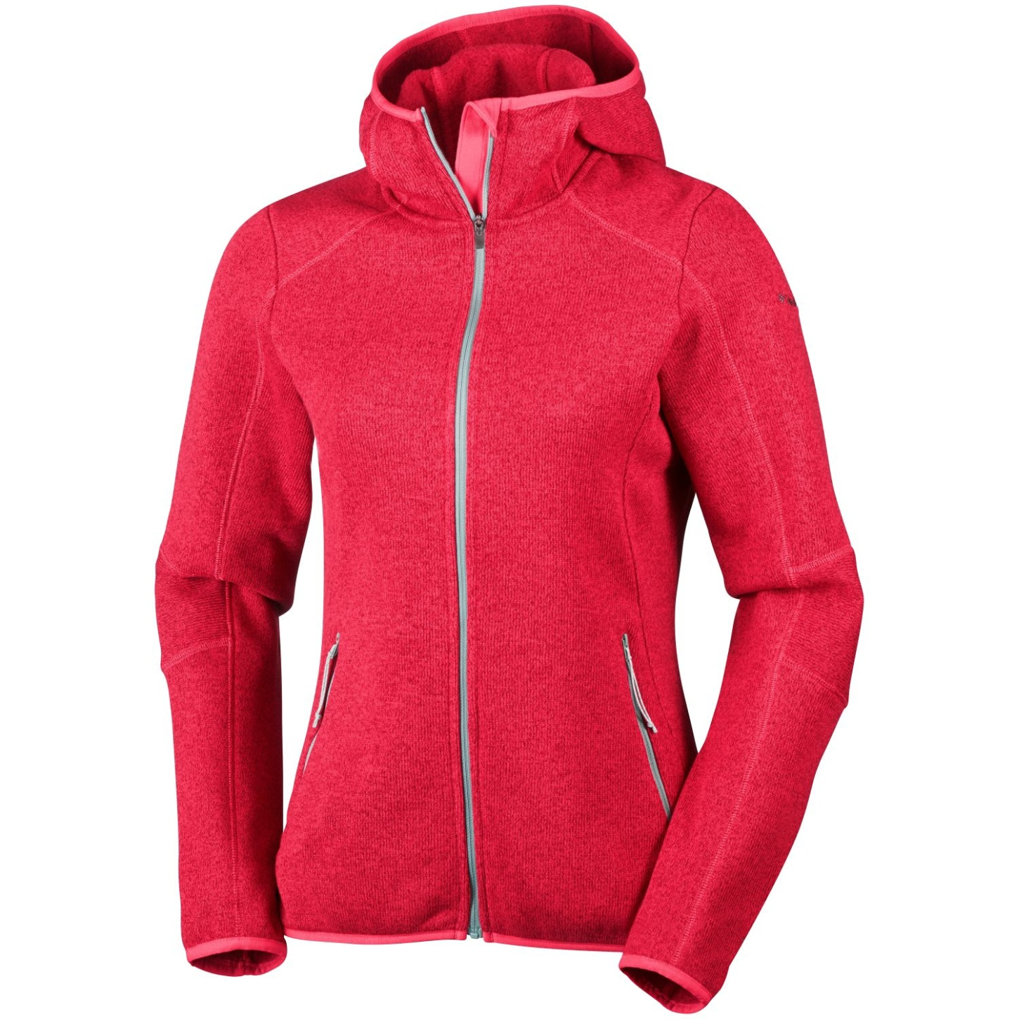 Columbia Women's Altitude Aspect Hooded Fleece Red Camellia Heather-30