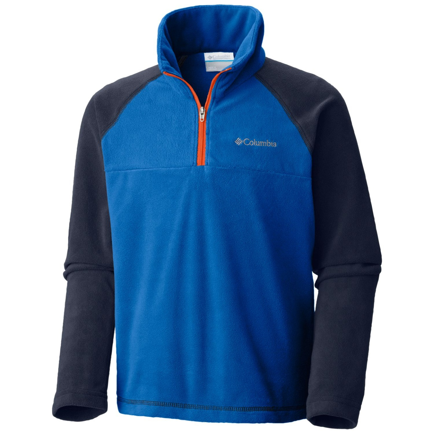 Columbia Boys' Glacial Half Zip Fleece Super Blue, Collegiate Navy-30