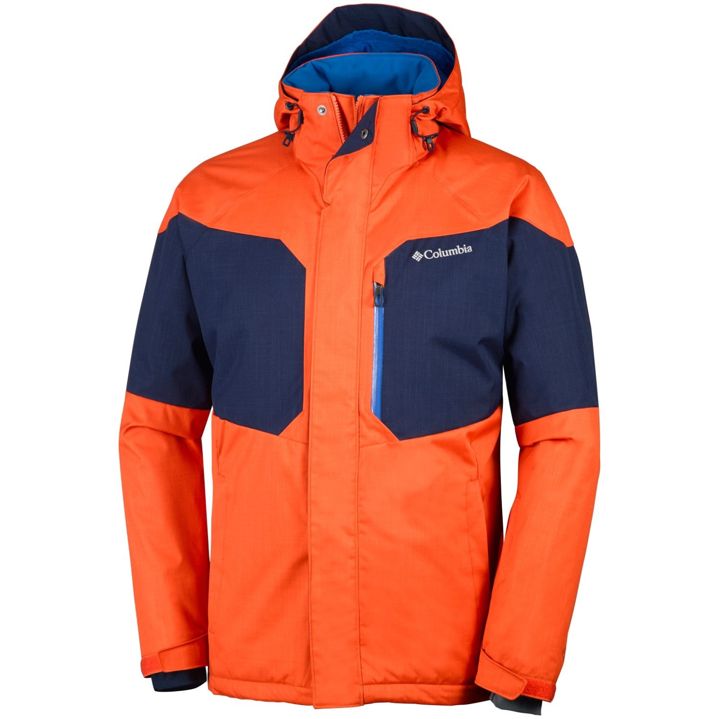 Columbia Men's Alpine Action Ski Jacket Tangy Orange, Collegiate Navy-30