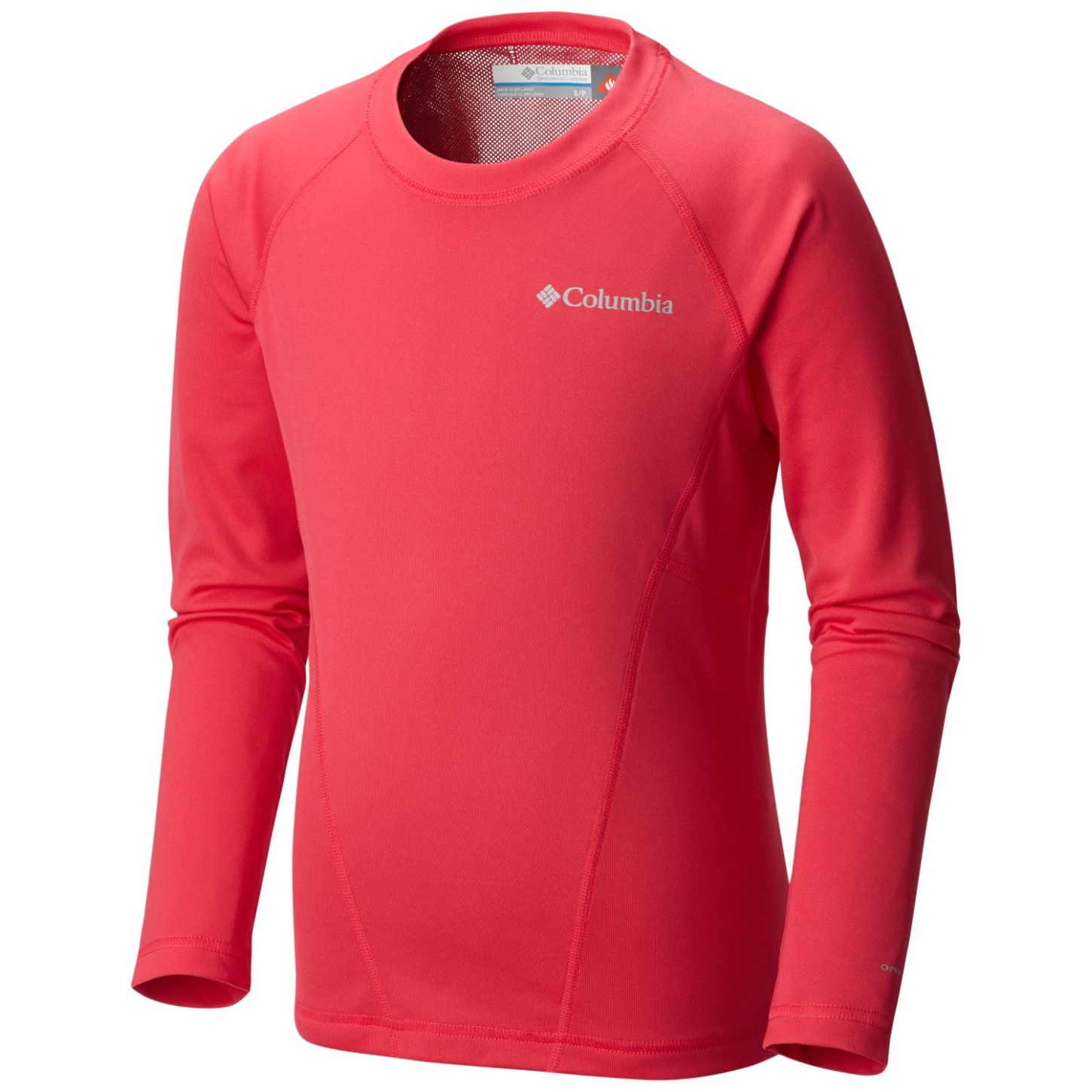 Columbia Boys' Midweight Crew 2 Top Punch Pink-30
