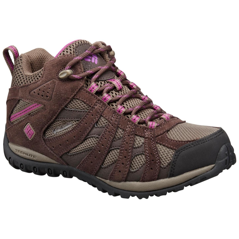 Columbia Women's Redmond Mid Waterproof Shoes Mud, Intense Violet-30