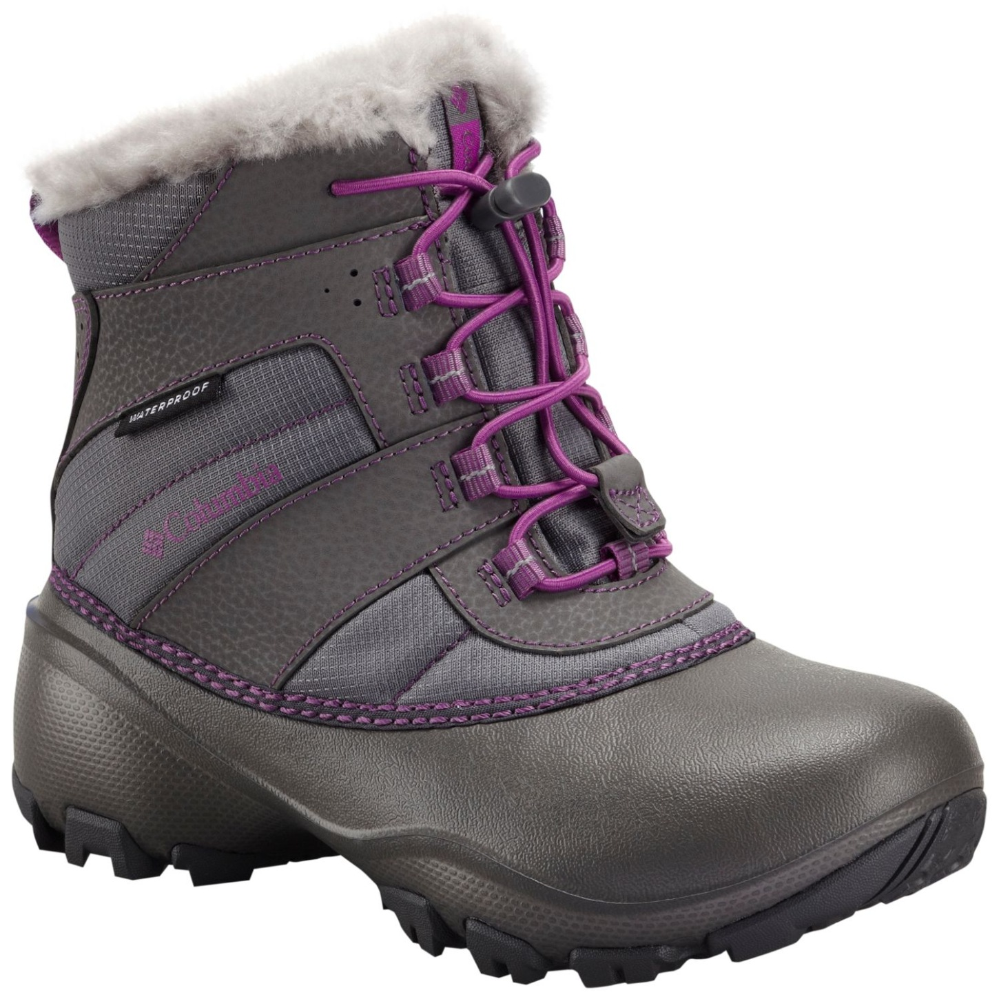 Columbia Girls' Rope Tow III Waterproof Snow Boot Charcoal, Razzle-30