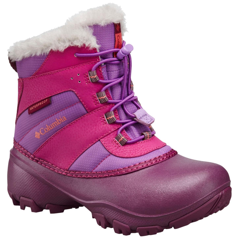 Columbia Girls' Rope Tow III Waterproof Snow Boot Northern Lights, Melonade-30