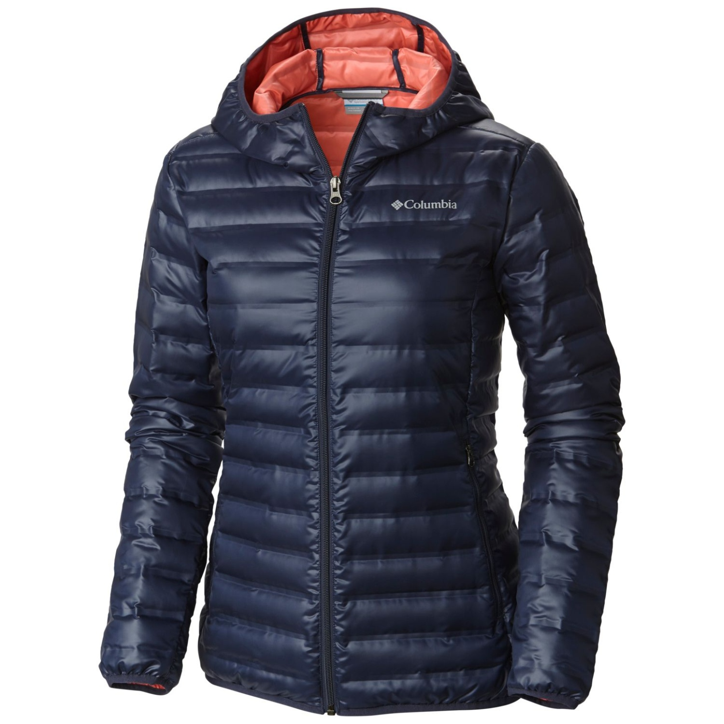 Columbia Flash Forward Daunenjacke mit Kapuze für Damen Nocturnal, Hot Coral-30