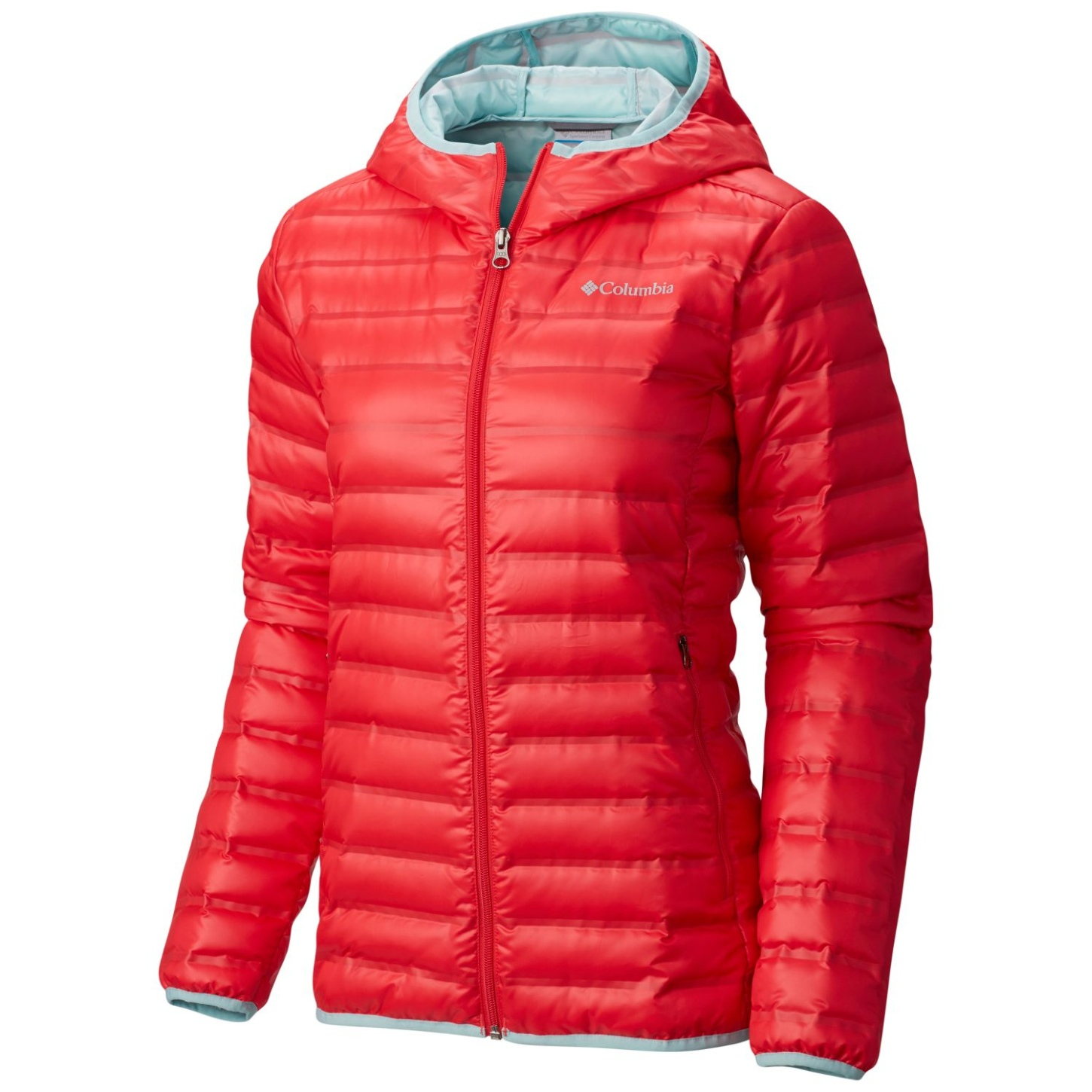 Columbia Women's Flash Forward Hooded Down Jacket Red Camellia, Spray-30