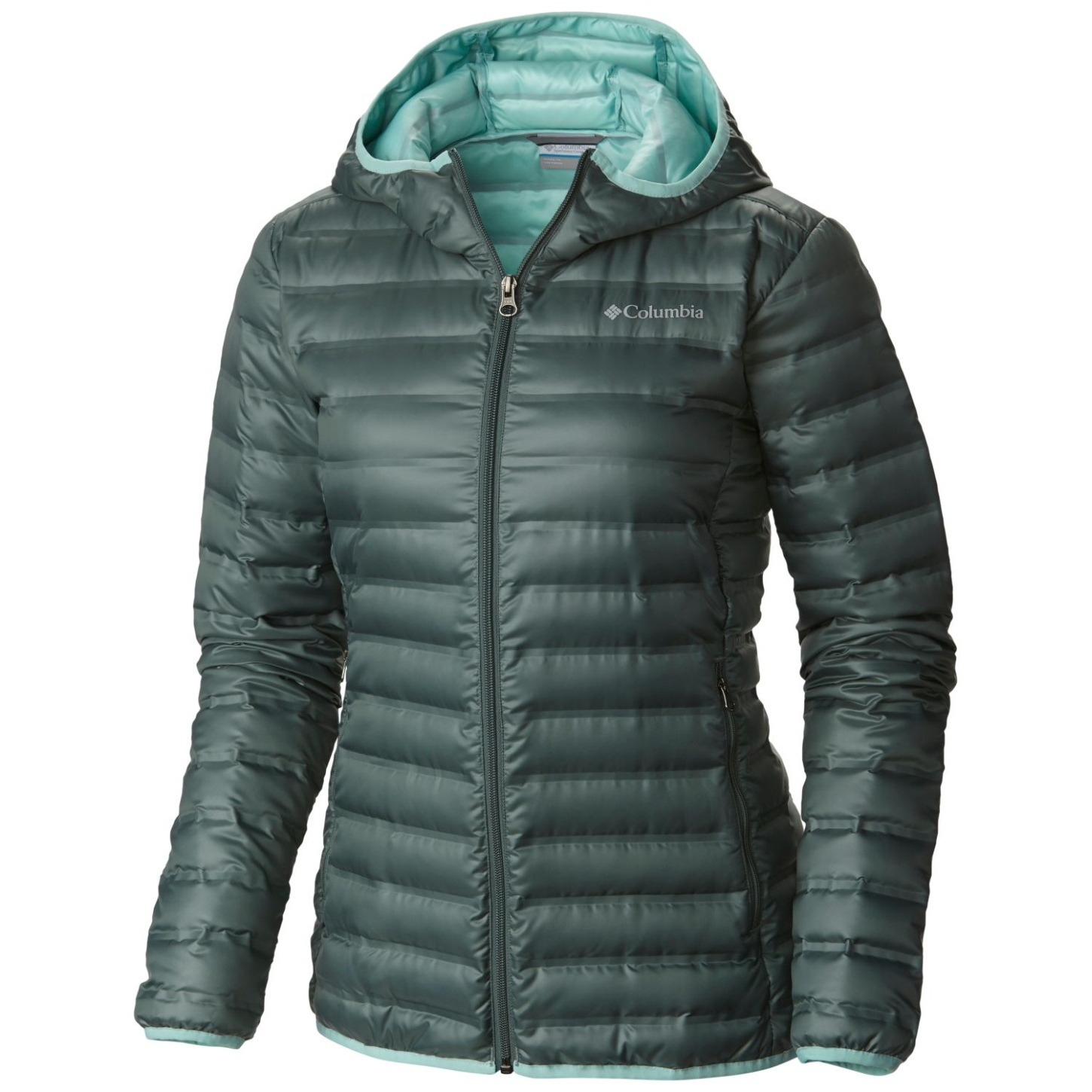 Columbia Women's Flash Forward Hooded Down Jacket Pond, Spray-30