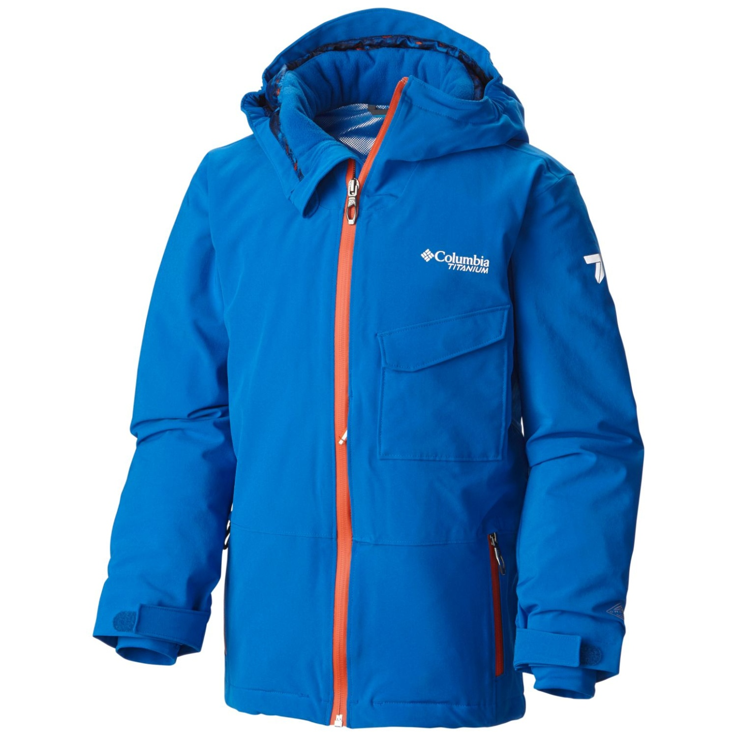 Columbia Boys' EmPOWder Jacket Super Blue-30