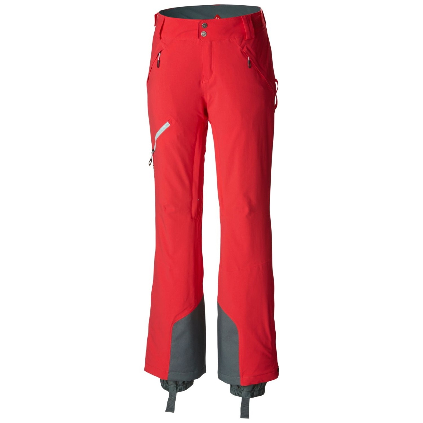 Columbia Women's Zip Down Ski Trousers Red Camellia-30