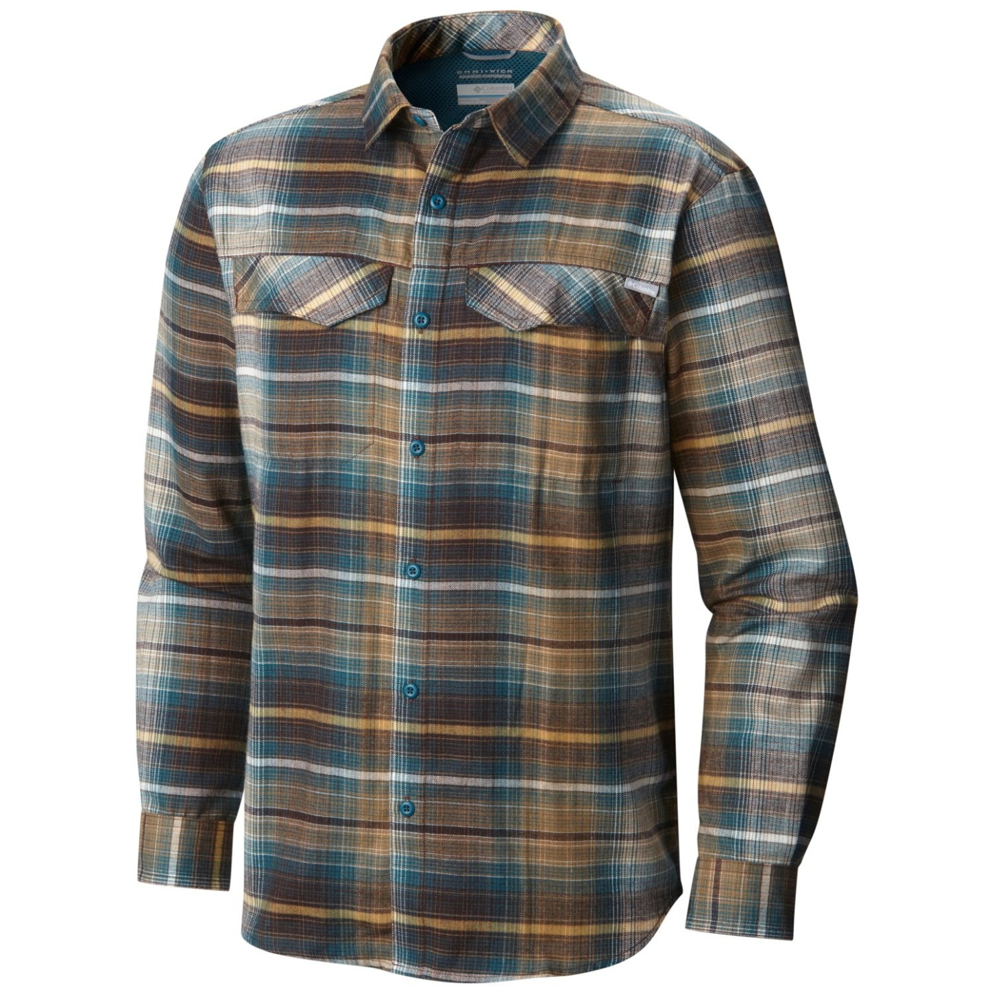Columbia Men's Silver Ridge Flannel Long Sleeve Shirt New Cinder Ombre Plaid-30