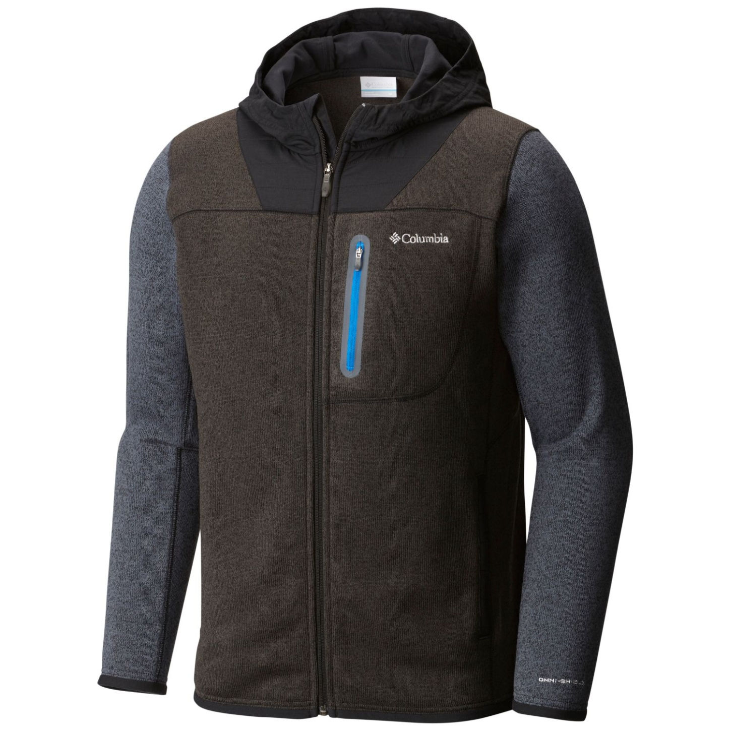 Columbia Men's Altitude Aspect Full Zip Hoody Black, Graphite-30