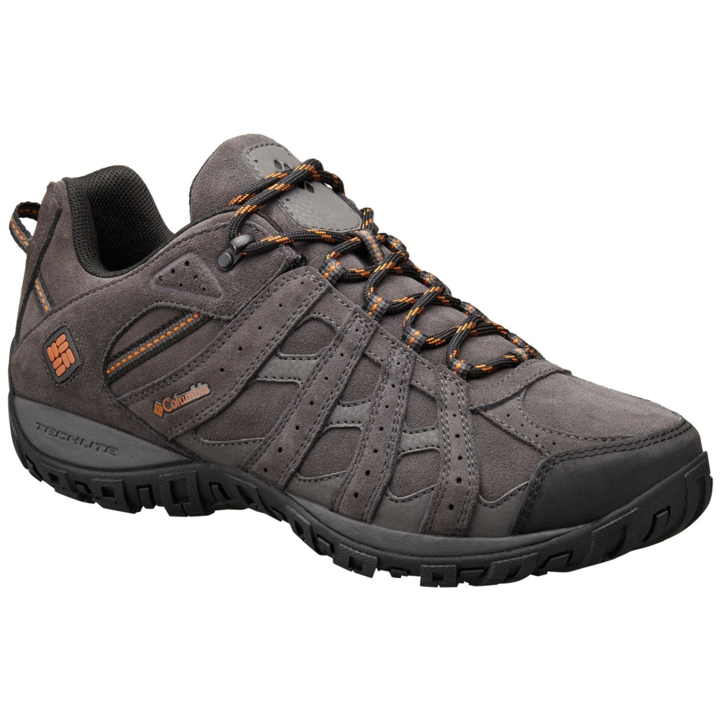 Columbia Men's Redmond Leather Omni-Tech Shoes Dark Grey, Bright Copper-30