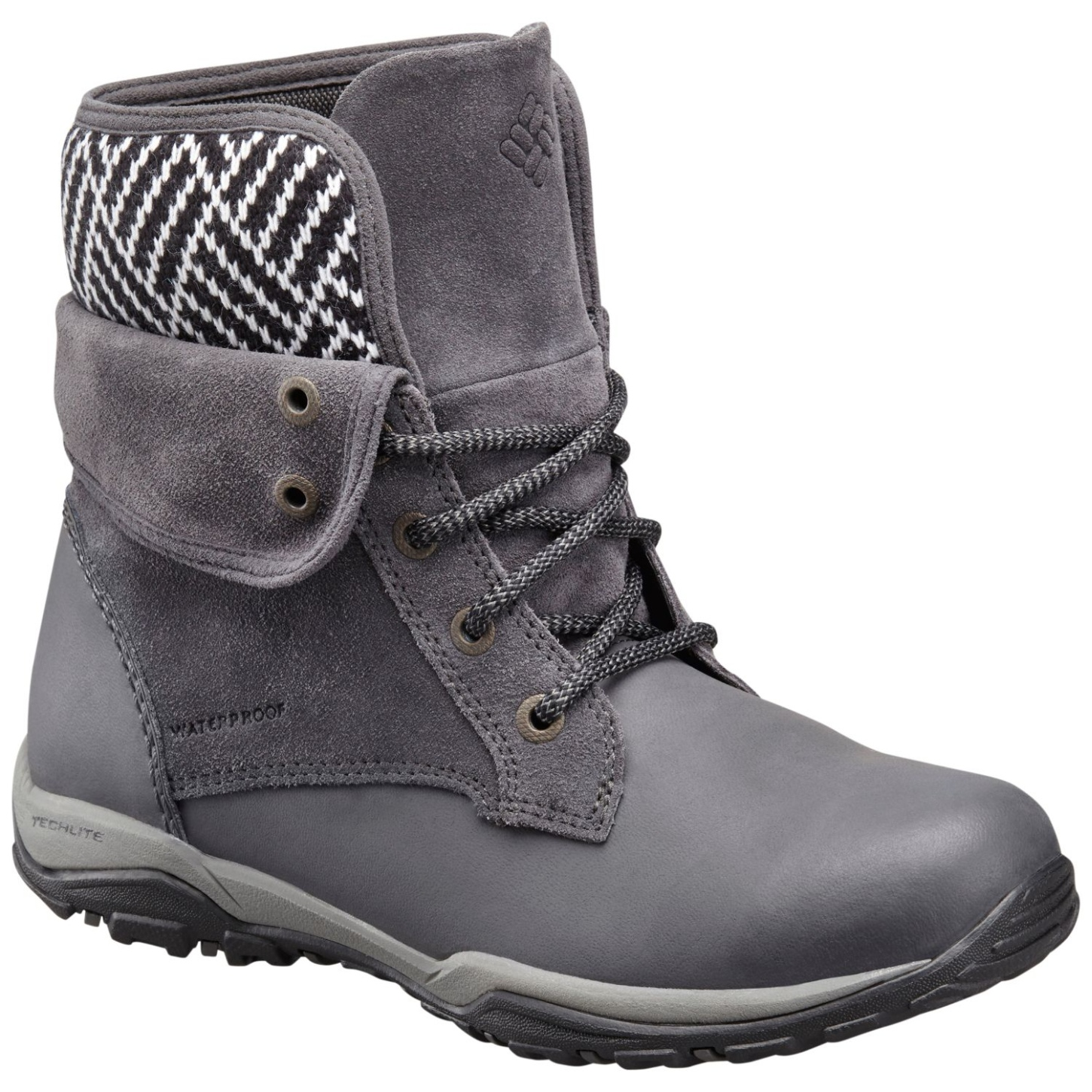Columbia Women's Cityside Fold Waterproof Winter Shoes Dark Grey, Silver Sage-30