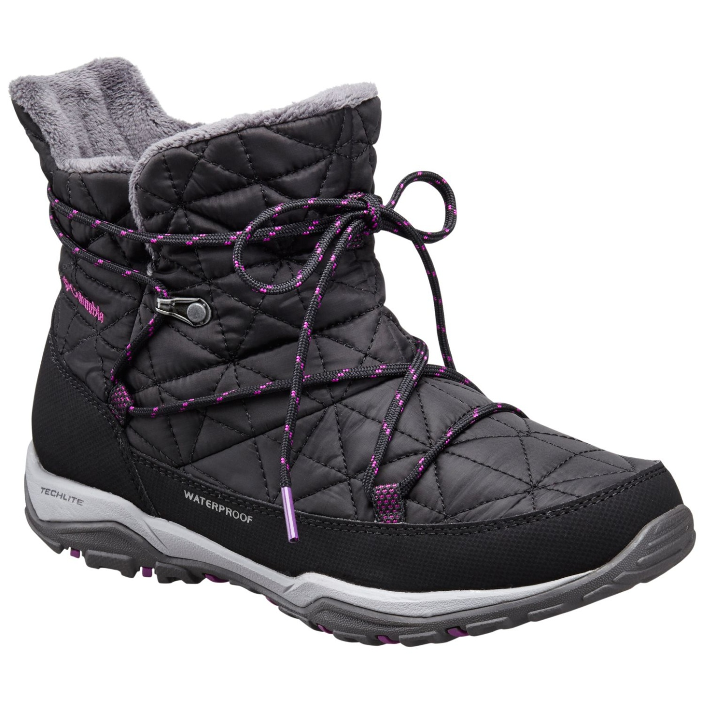 Columbia Women's Loveland Shorty Omni-Heat Winter Boots Black, Bright Plum-30