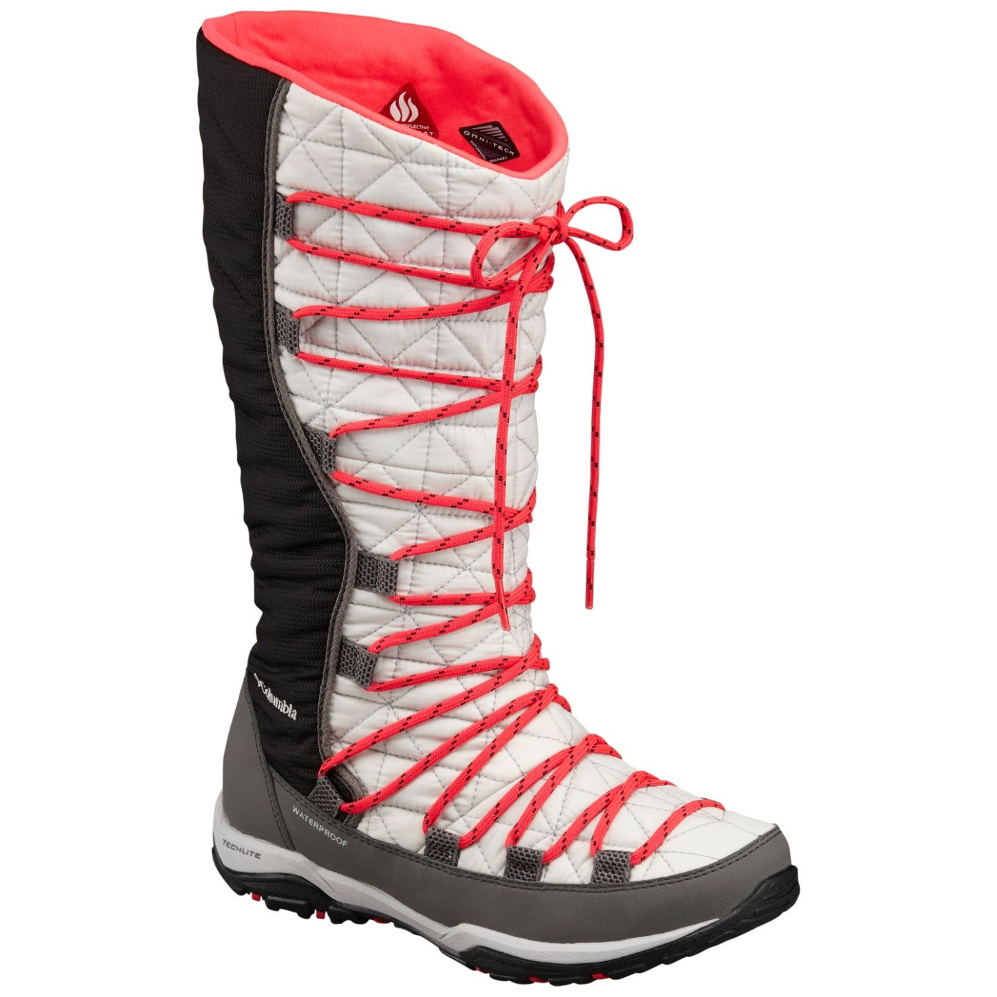Columbia Women's Loveland Omni-heat Winter Boots Cool Grey, Laser Red-30