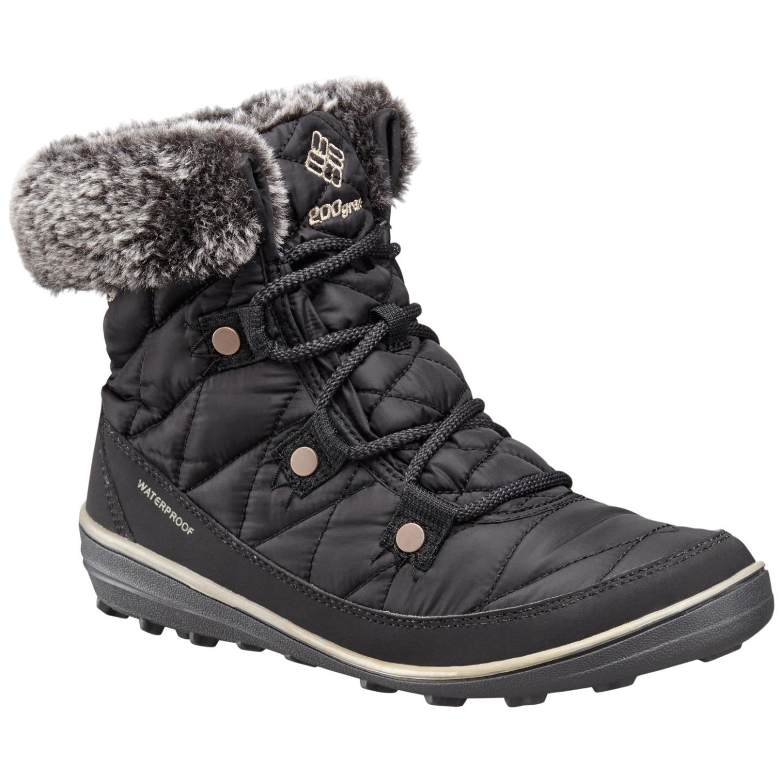 Columbia Women's Heavenly Shorty Omni-heat Winter Boots Black, Kettle-30