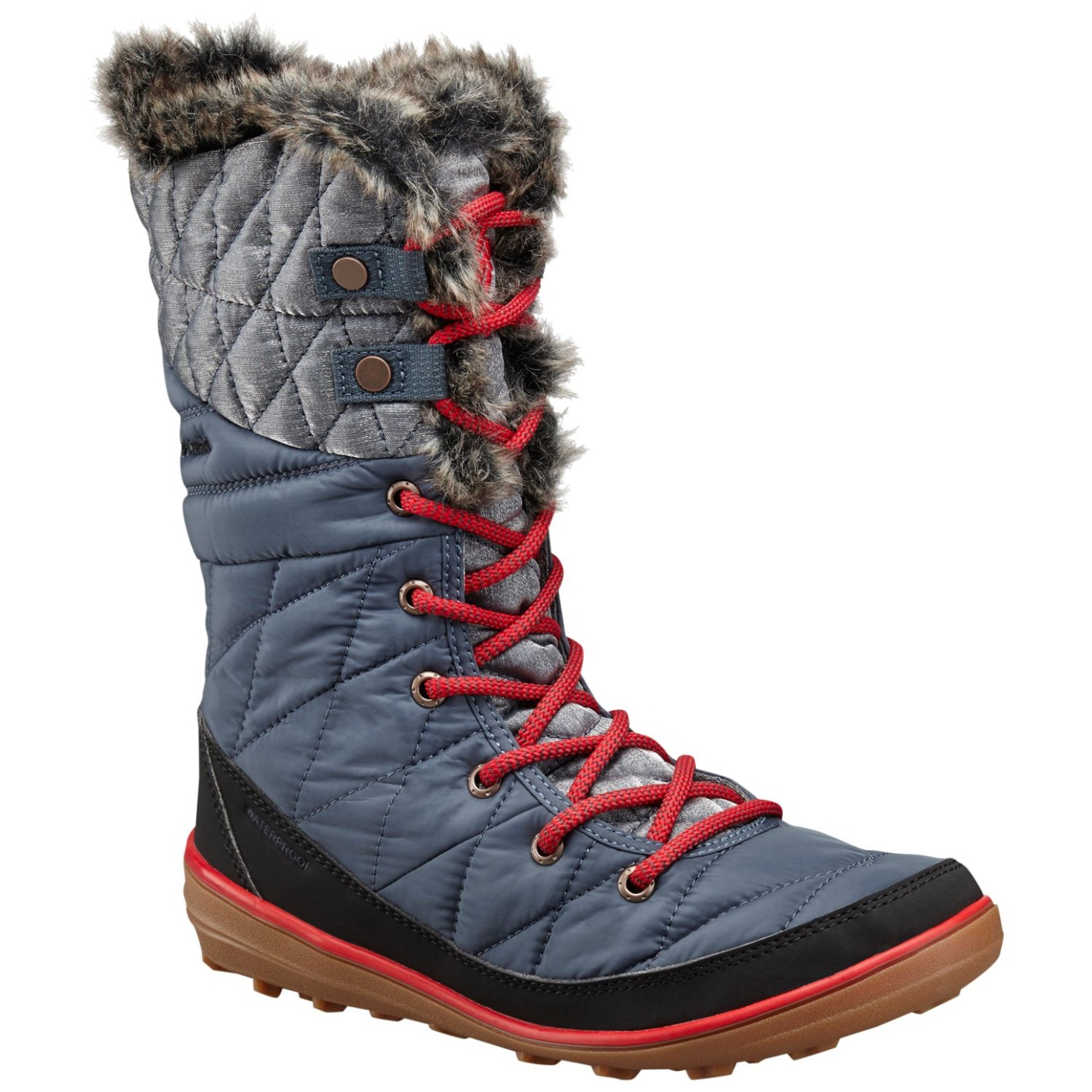 Columbia Women's Heavenly Omni-heat Organza Winter Boots Mystery, Bright Red-30