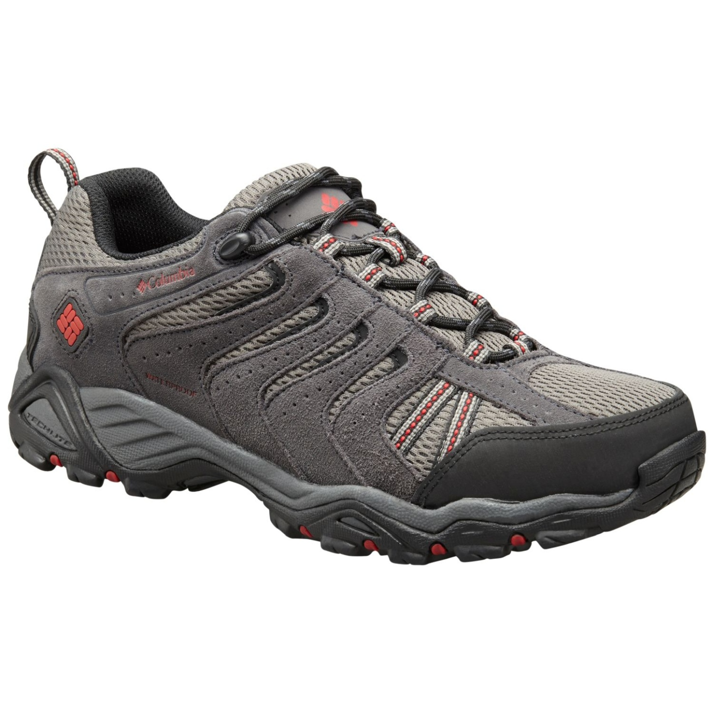 Columbia North Plains II Wasserdichte Schuhe für Herren City Grey, Rocket-30