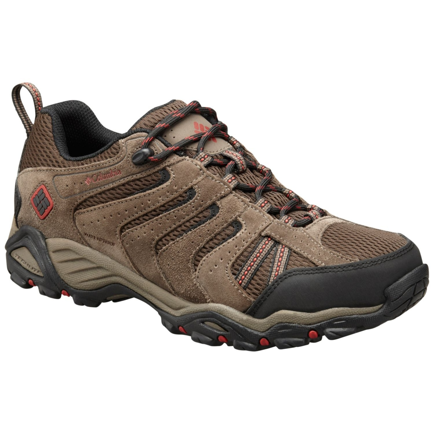 Columbia Men's North Plains II Waterproof Shoes Cordovan, Gypsy-30
