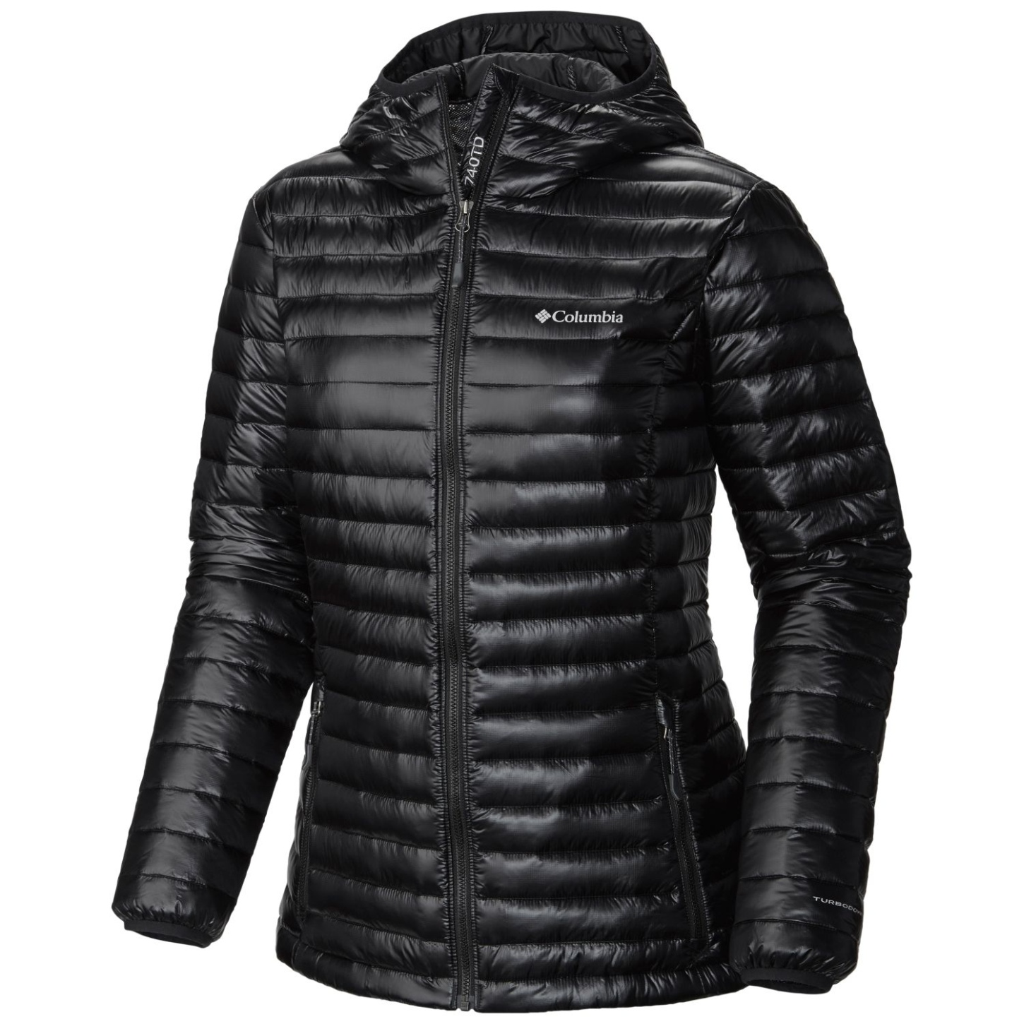 Columbia Platinum Plus 740 TurboDown Jacke mit Kapuze für Damen Black-30