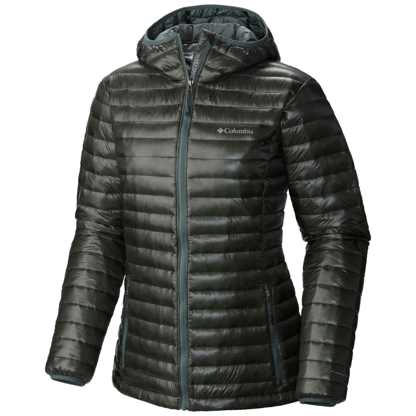Columbia Women's Platinum Plus 740 TurboDown Hooded Jacket Pond-30