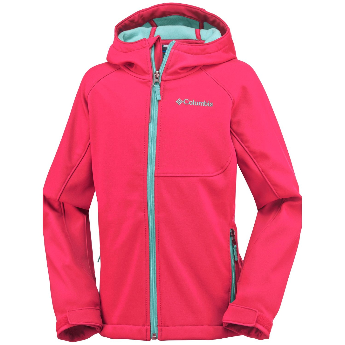 Columbia Boy's Cascade Ridge Softshell Red Camellia-30