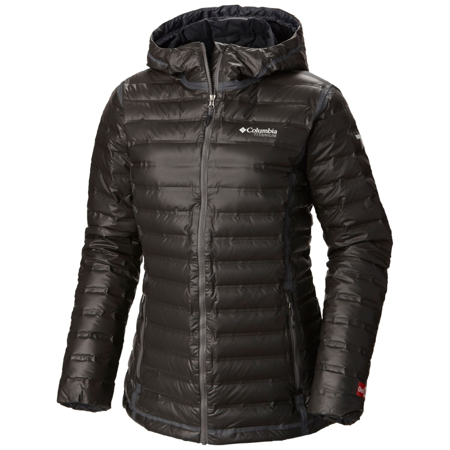 Columbia Women's OutDry Extreme Gold Down Hooded Jacket Black-30