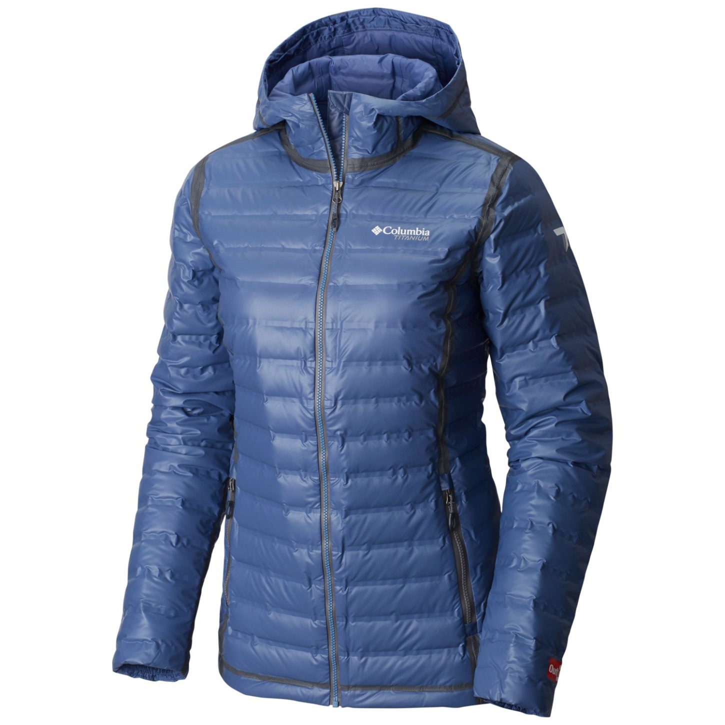 Columbia Women's OutDry Extreme Gold Down Hooded Jacket Bluebell-30